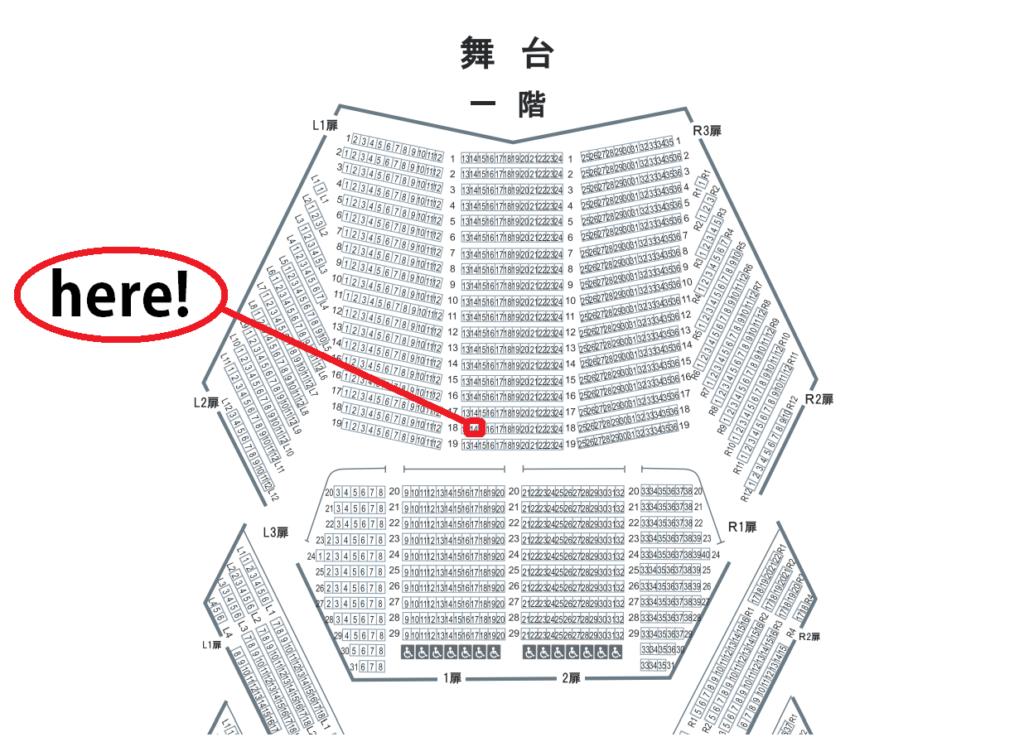 東京文化会館大ホール 1階18列14番